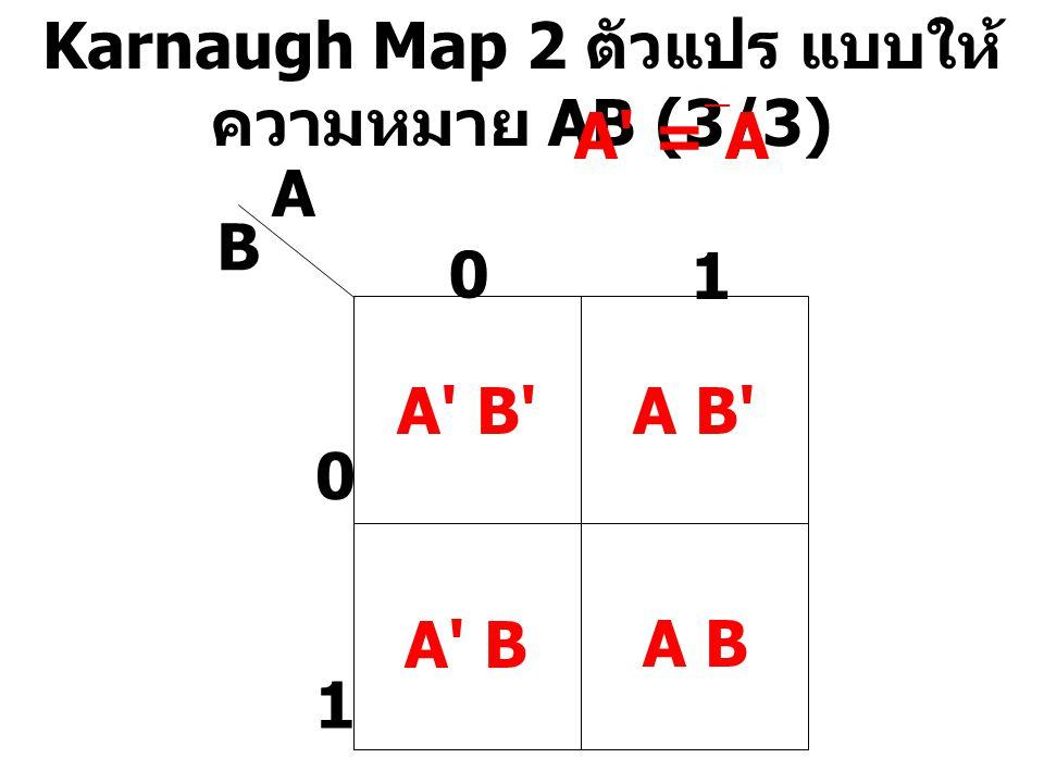Karnaugh Map 2 ตัวแปร แบบให้ความหมาย AB (3/3)