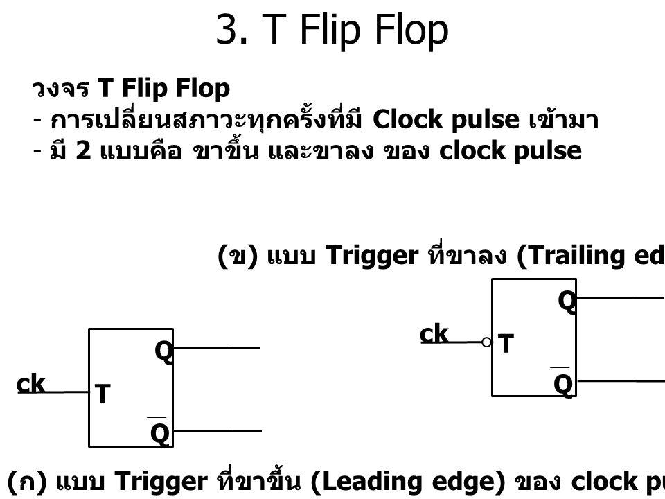 3. T Flip Flop วงจร T Flip Flop