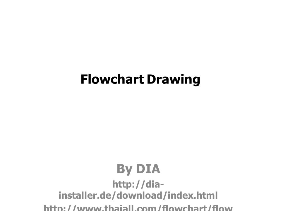 Flowchart Drawing By DIA