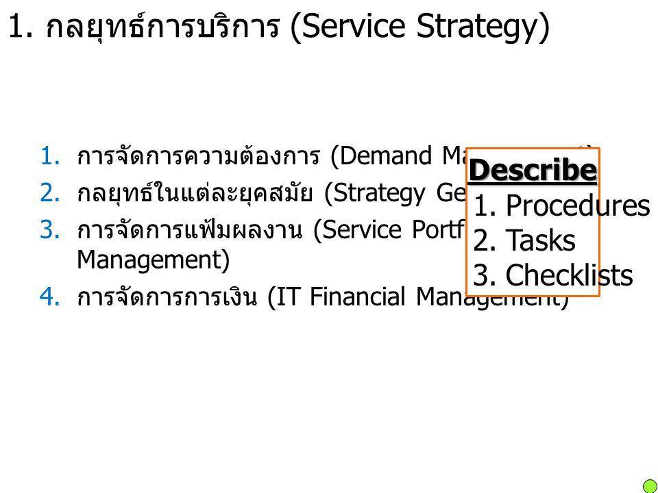 1. กลยุทธ์การบริการ (Service Strategy)