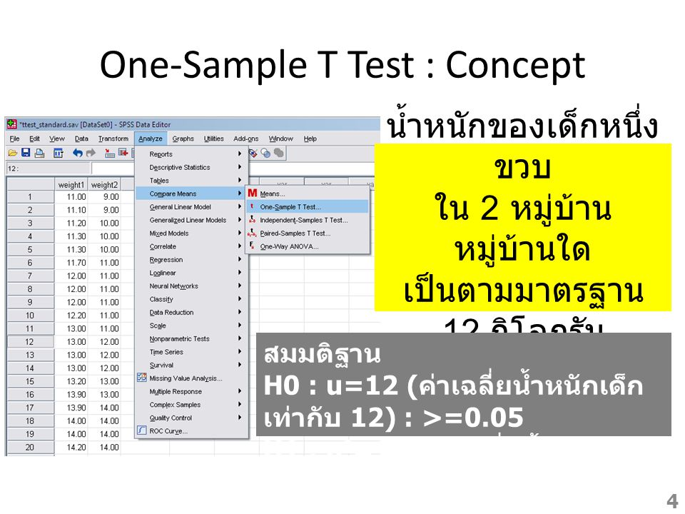 One-Sample T Test : Concept