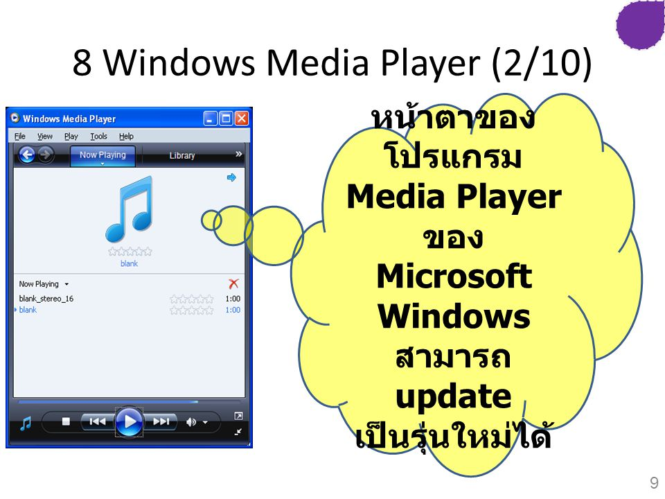 8 Windows Media Player (2/10)