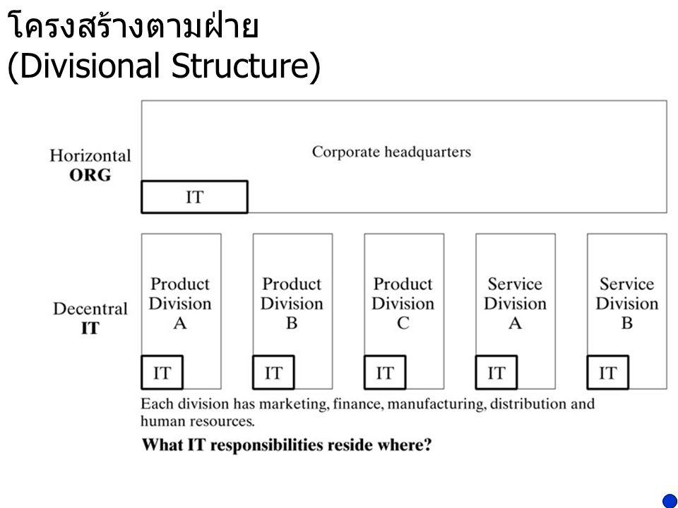 โครงสร้างตามฝ่าย (Divisional Structure)
