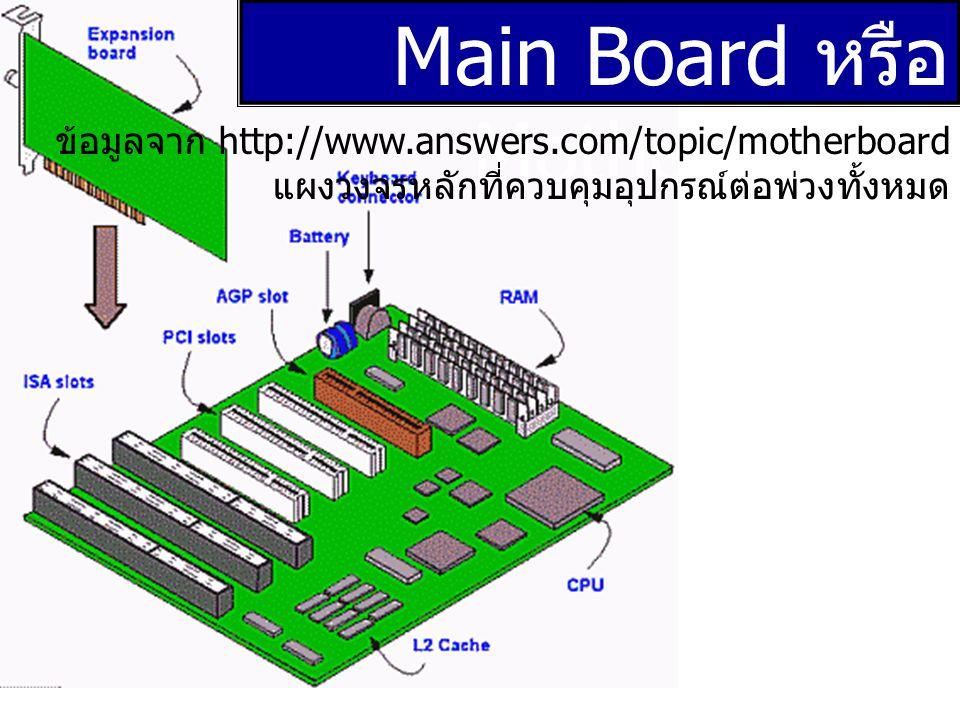 Main Board หรือ Mother Board