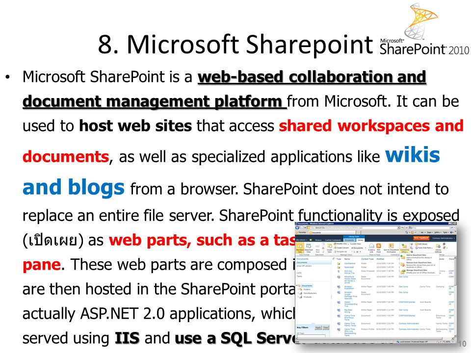 8. Microsoft Sharepoint