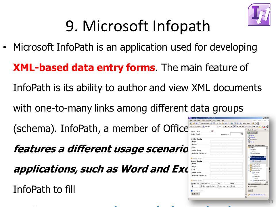 9. Microsoft Infopath