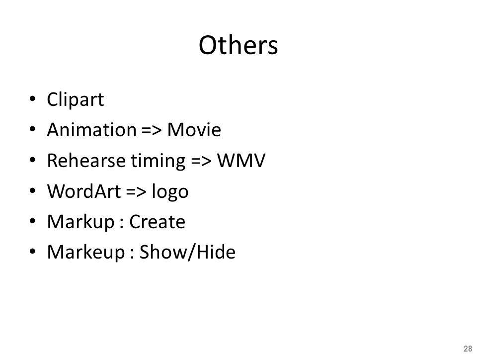 Others Clipart Animation => Movie Rehearse timing => WMV