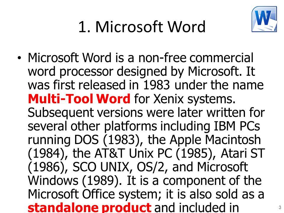 1. Microsoft Word