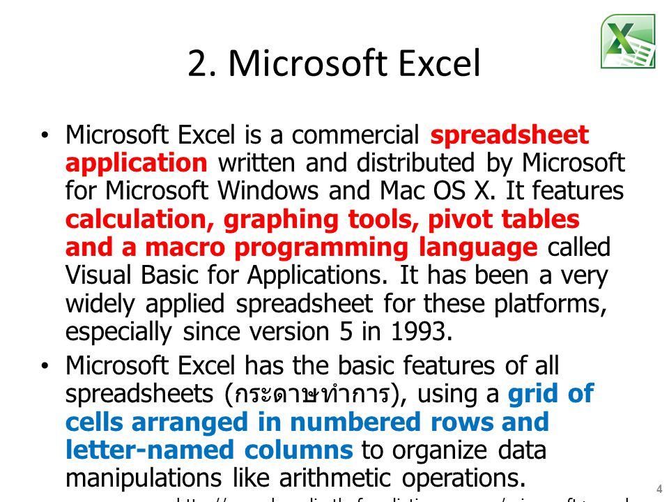 2. Microsoft Excel