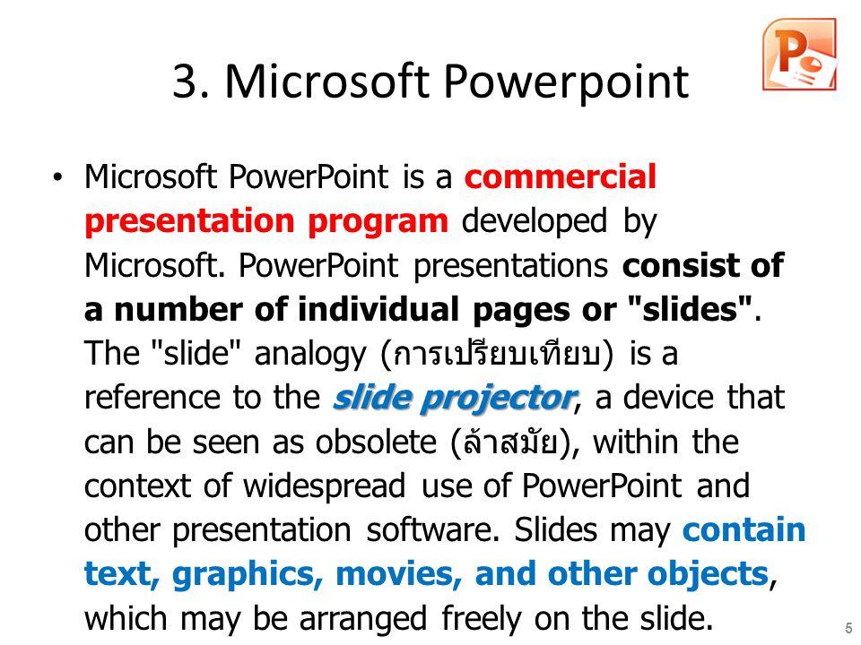 3. Microsoft Powerpoint