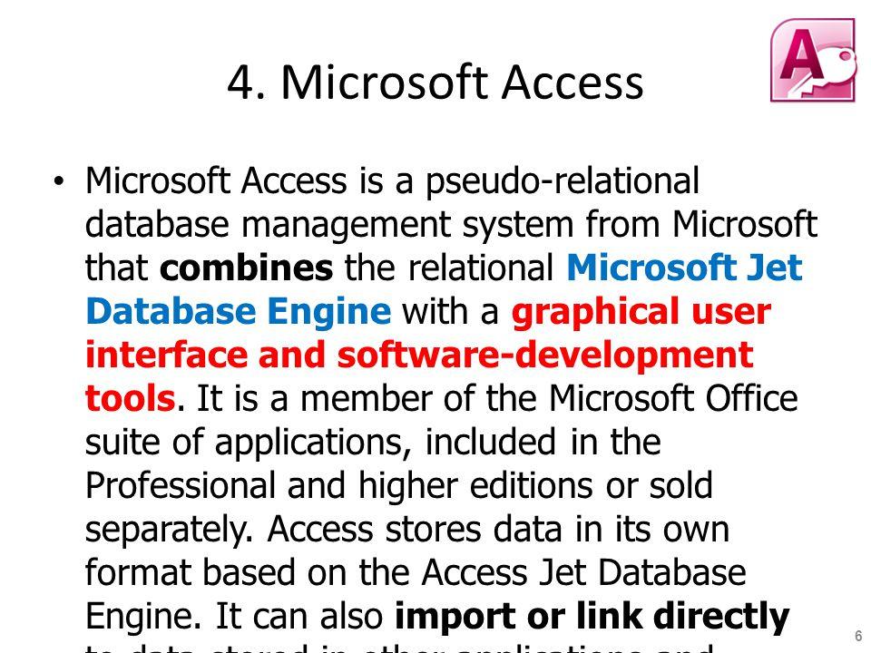 4. Microsoft Access