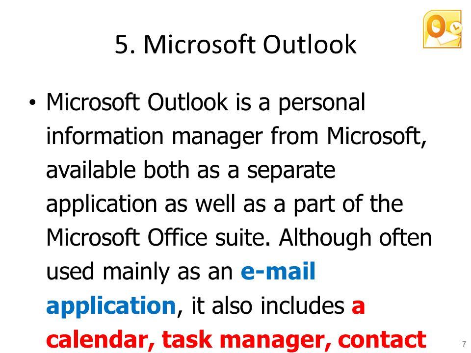 5. Microsoft Outlook