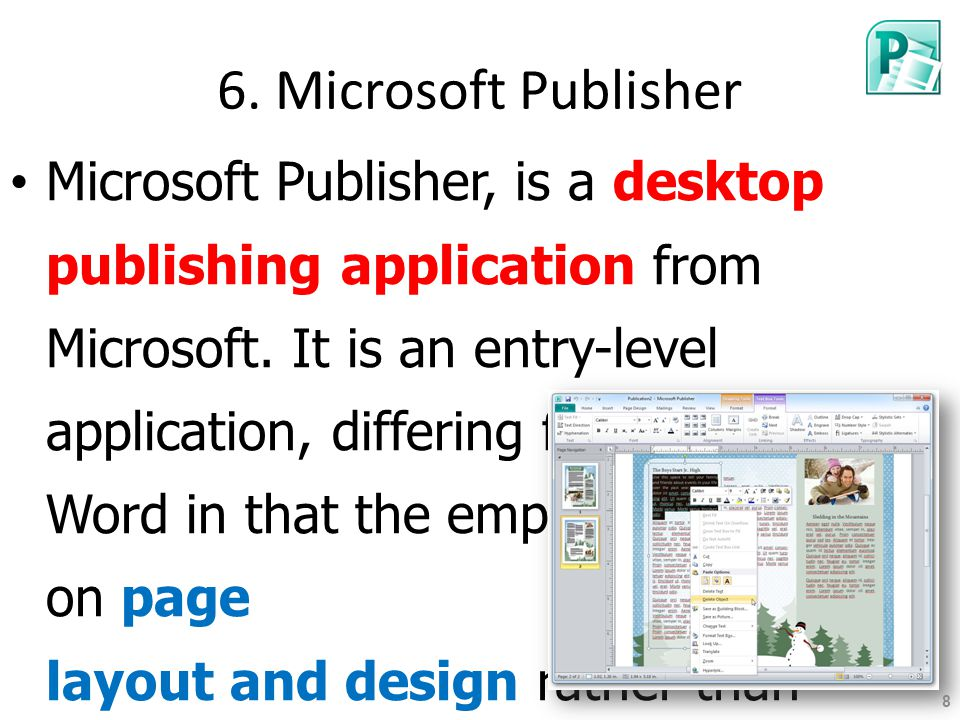 6. Microsoft Publisher