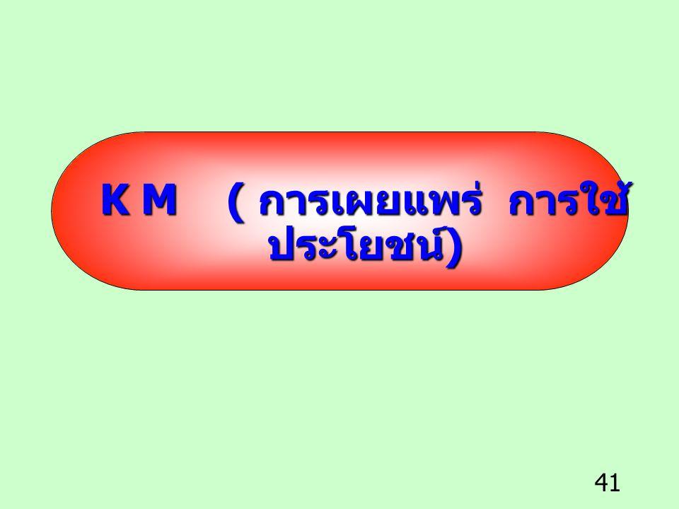K M ( การเผยแพร่ การใช้ประโยชน์)