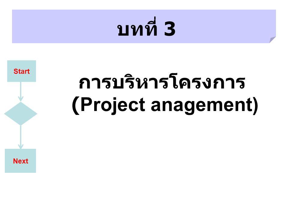 การบริหารโครงการ (Project anagement)