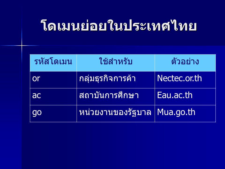 โดเมนย่อยในประเทศไทย
