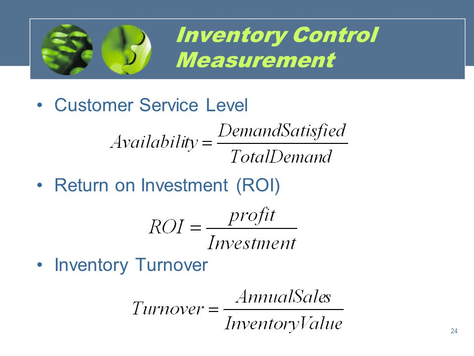 Inventory Control Measurement