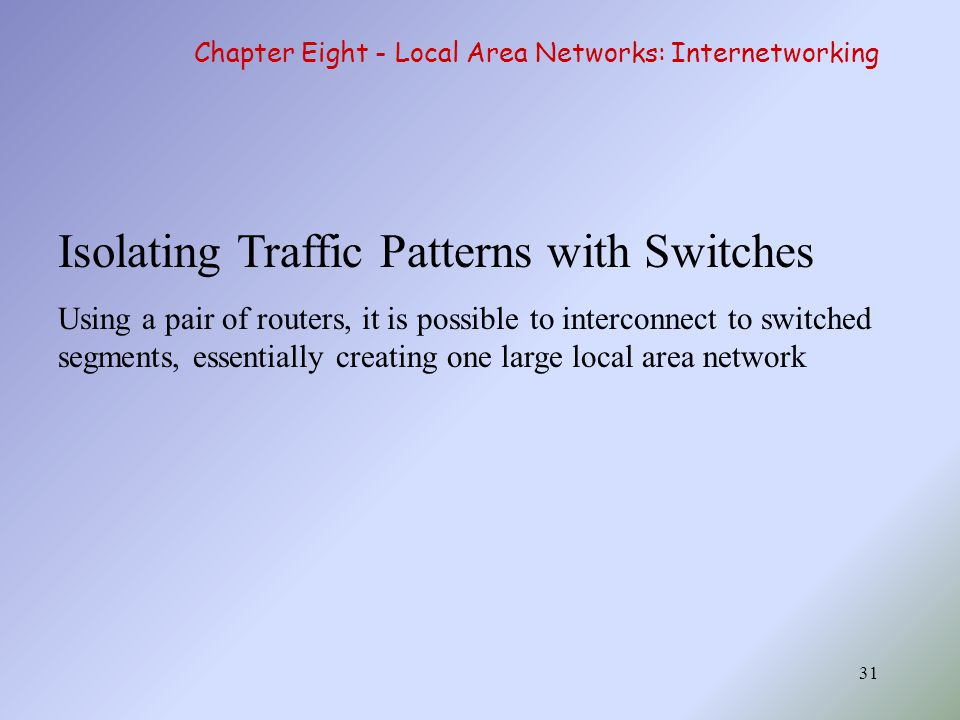 Isolating Traffic Patterns with Switches