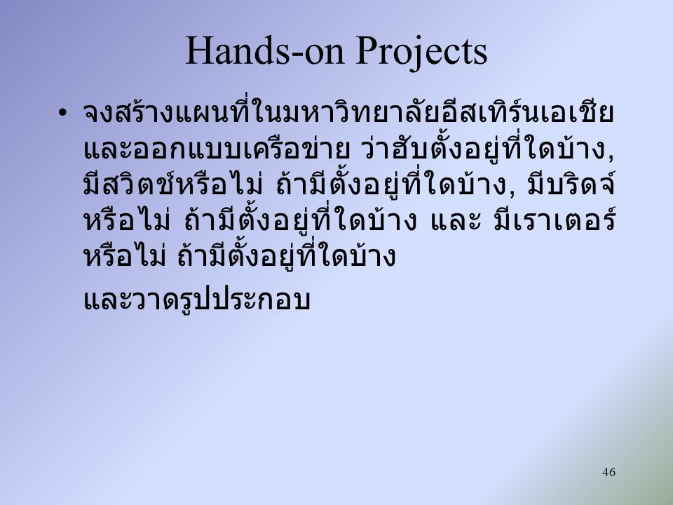 Hands-on Projects