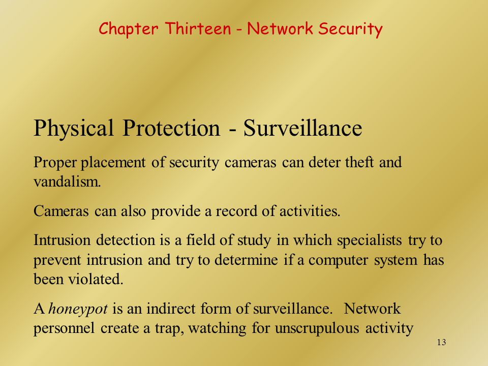 Physical Protection - Surveillance