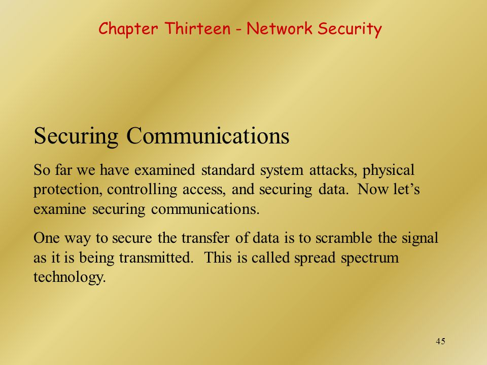 Securing Communications