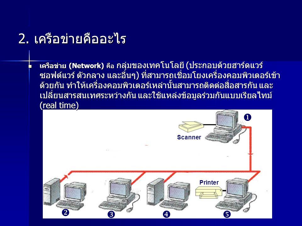 2. เครือข่ายคืออะไร     