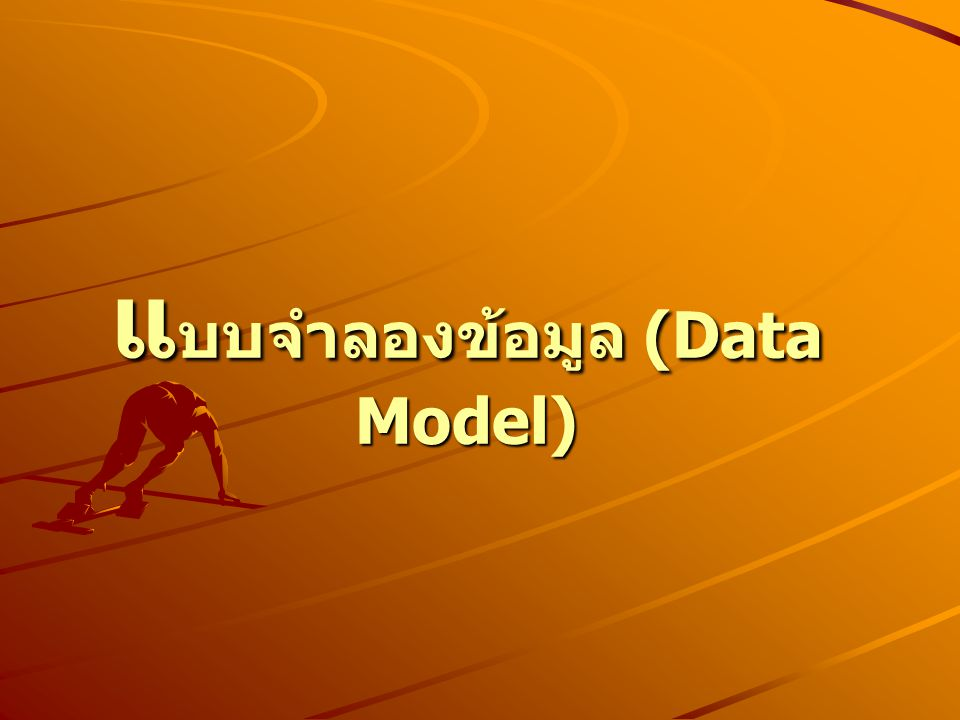 แบบจำลองข้อมูล (Data Model)
