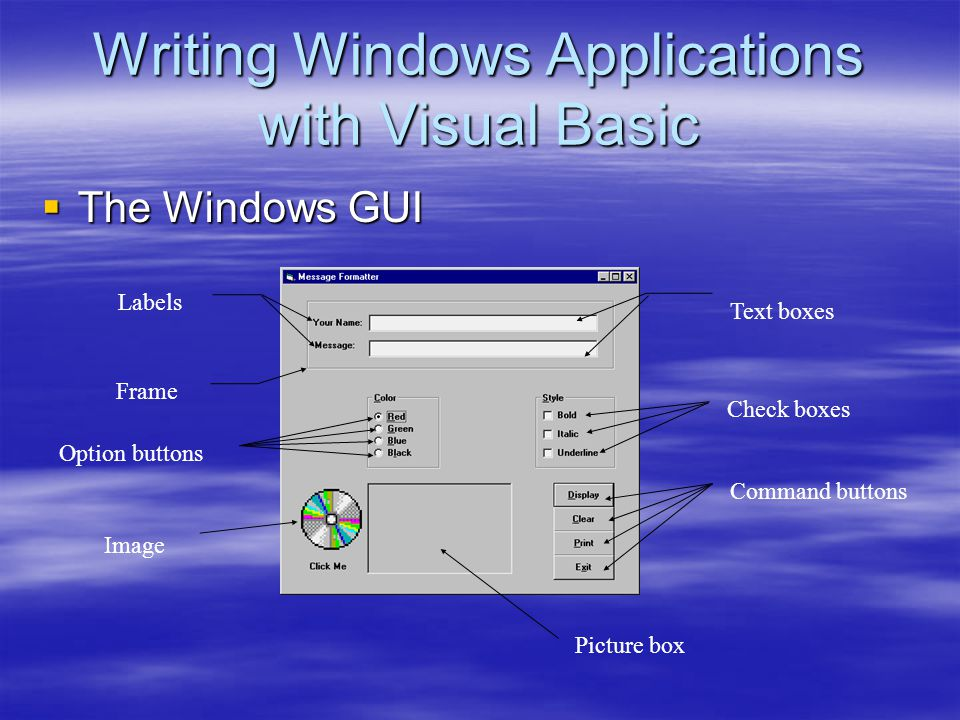 Writing Windows Applications with Visual Basic