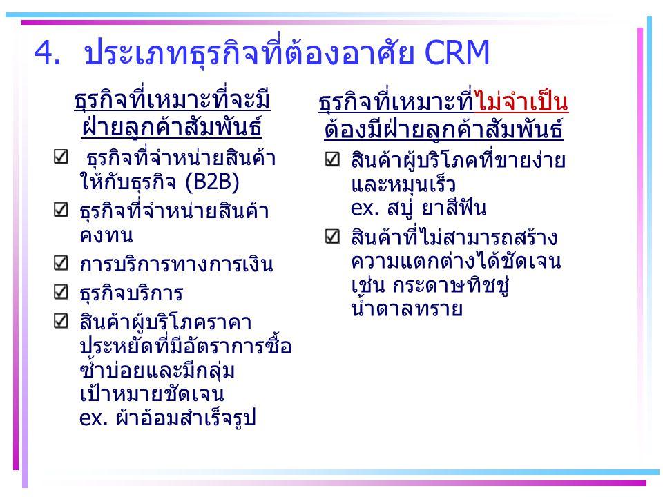 4. ประเภทธุรกิจที่ต้องอาศัย CRM