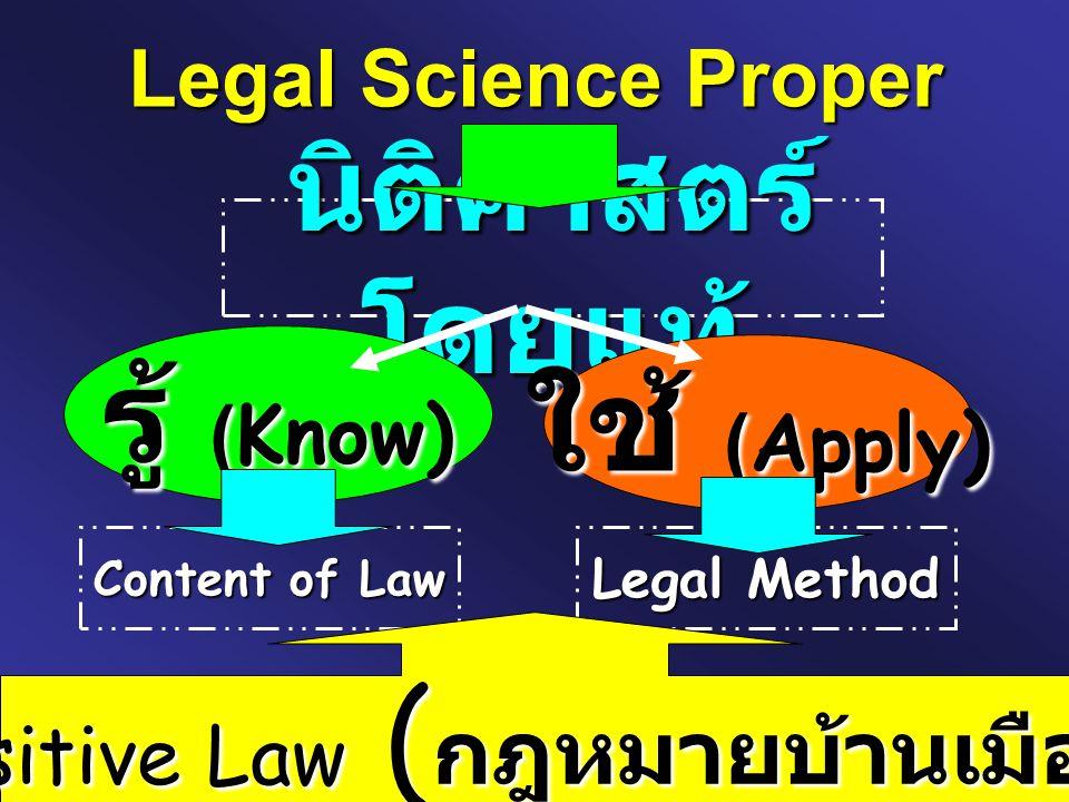 Positive Law (กฎหมายบ้านเมือง)