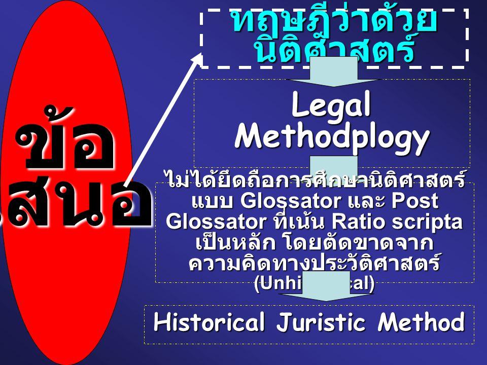 ทฤษฎีว่าด้วยนิติศาสตร์ Historical Juristic Method