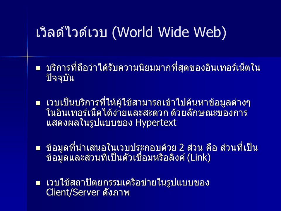 เวิลด์ไวด์เวบ (World Wide Web)