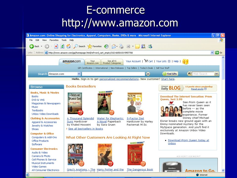 E-commerce http://www.amazon.com