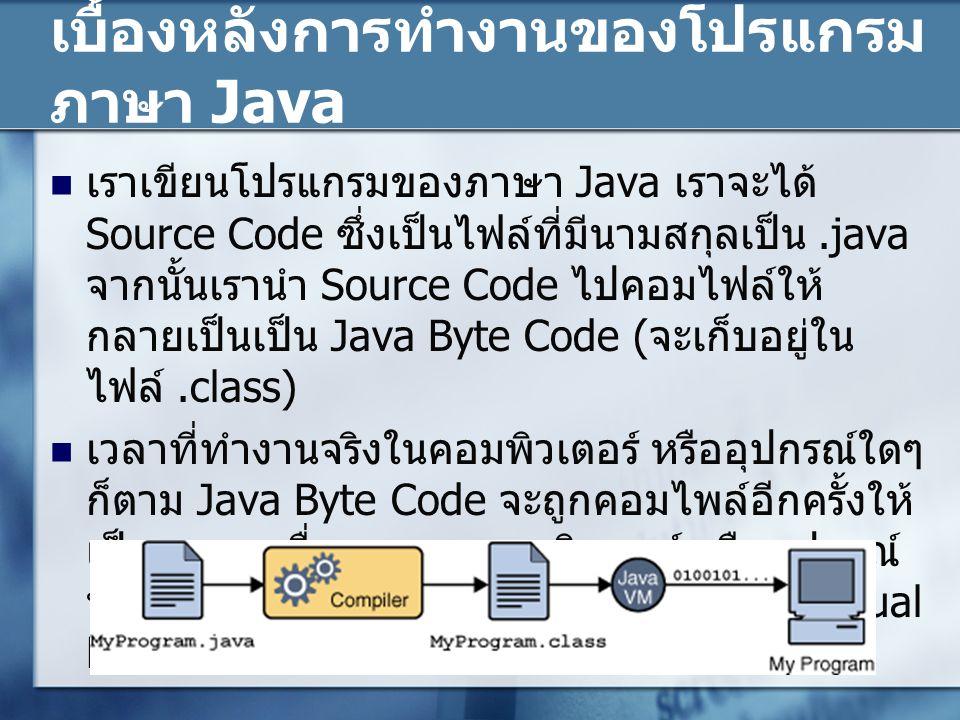 เบื้องหลังการทำงานของโปรแกรมภาษา Java