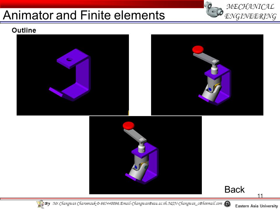 Animator and Finite elements