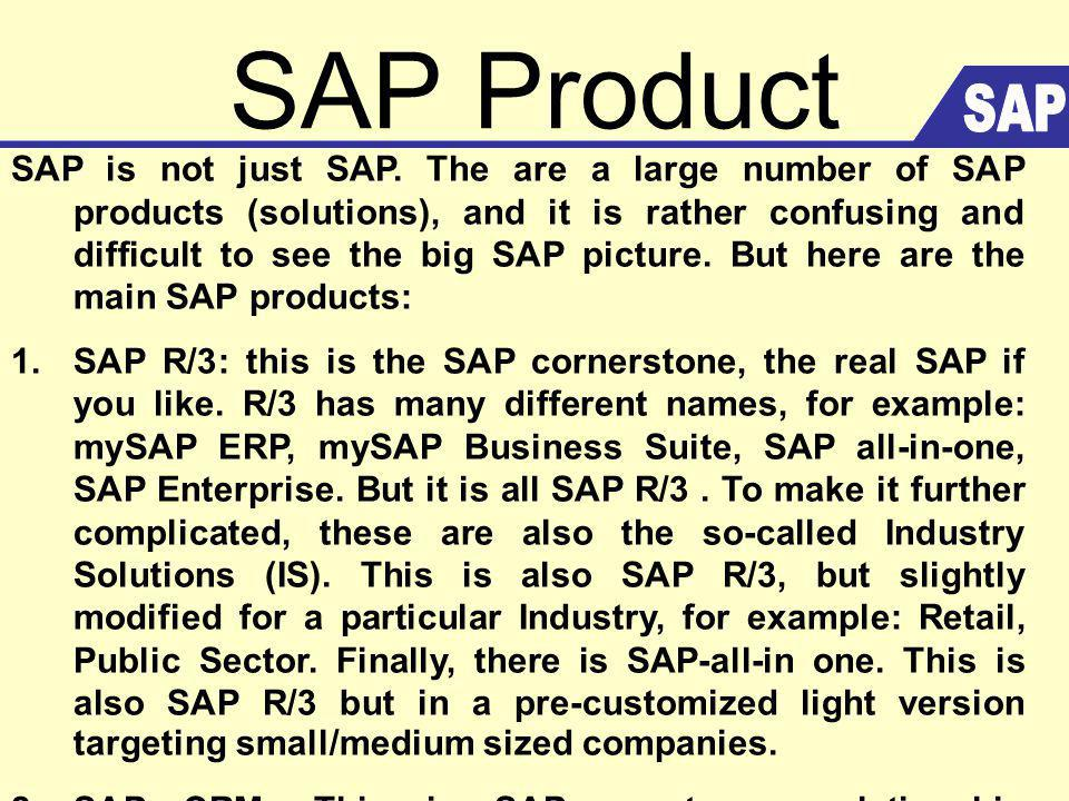 SAP Product SAP.