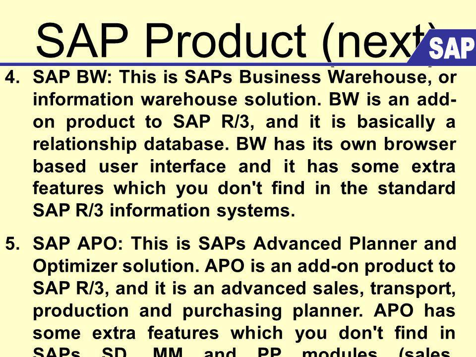 SAP Product (next) SAP.