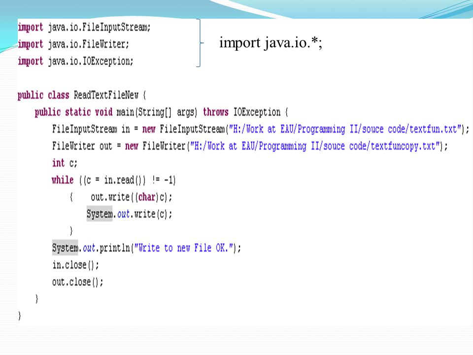 import java.io.*;