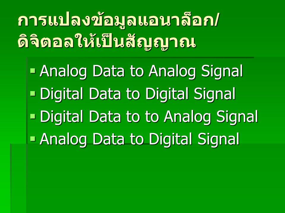 การแปลงข้อมูลแอนาล็อก/ดิจิตอลให้เป็นสัญญาณ