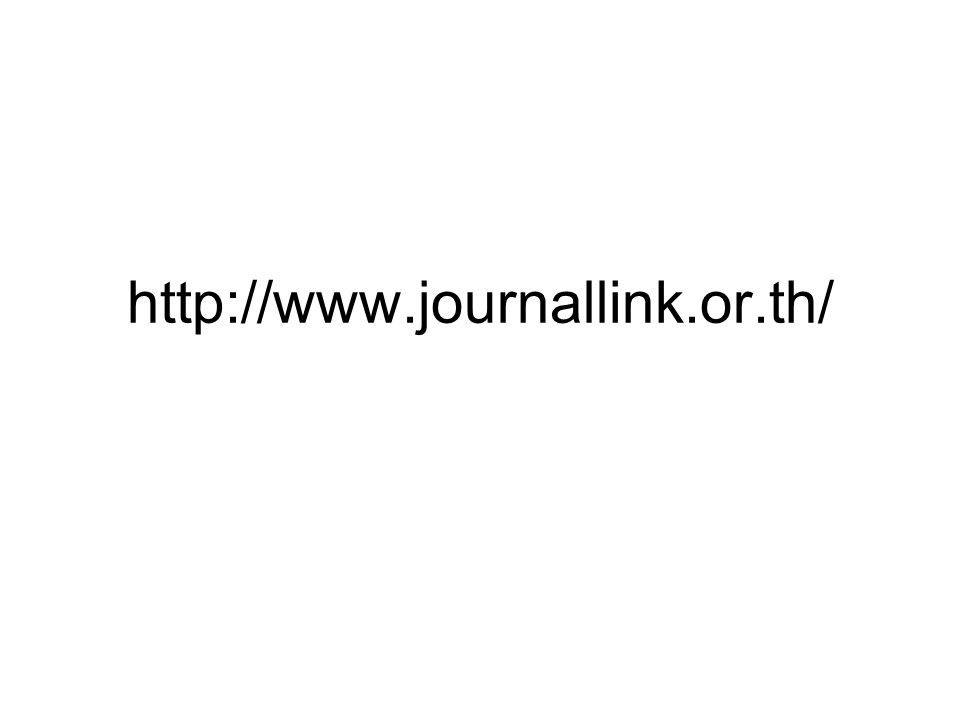 http://www.journallink.or.th/