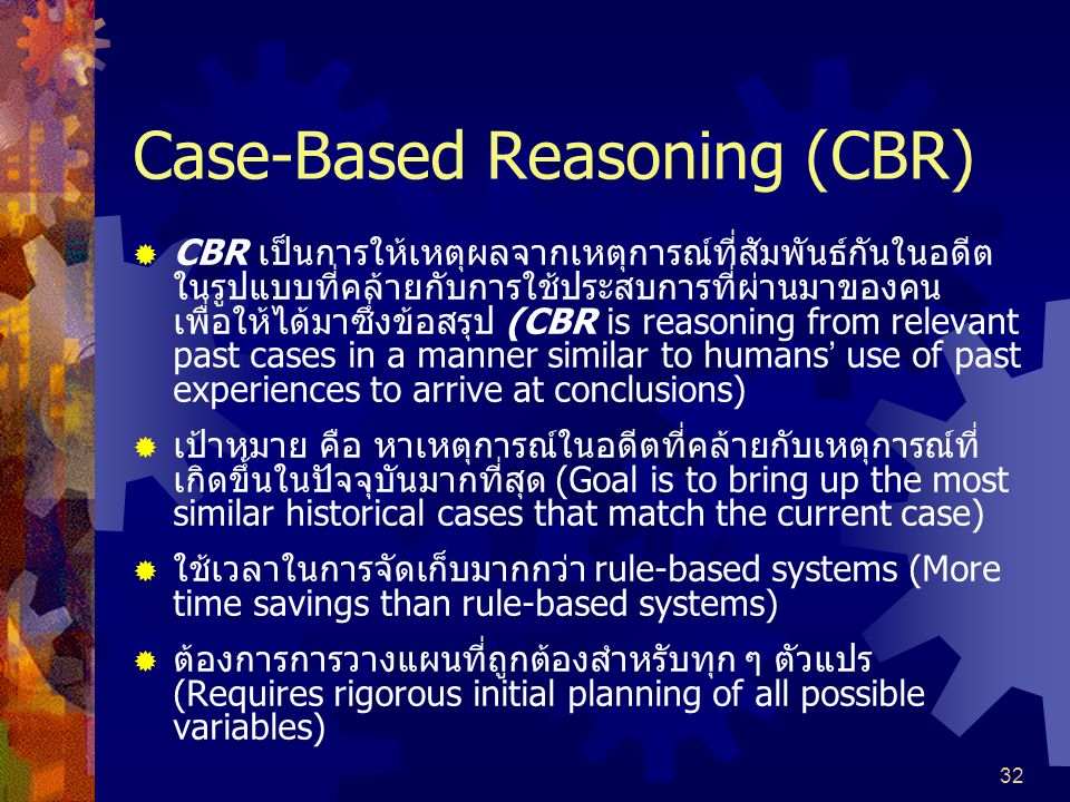 Case-Based Reasoning (CBR)