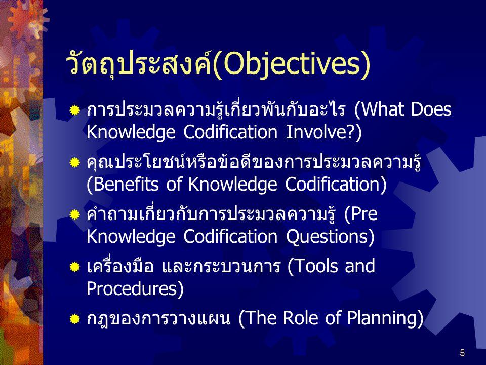 วัตถุประสงค์(Objectives)