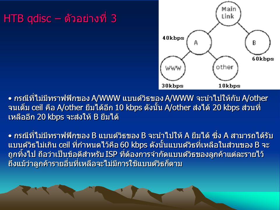 HTB qdisc – ตัวอย่างที่ 3
