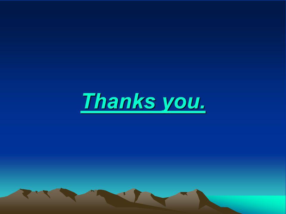 Thanks you.