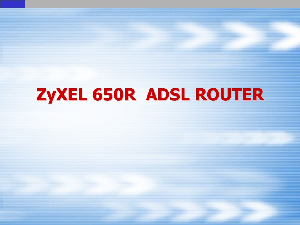 ZyXEL 650R ADSL ROUTER