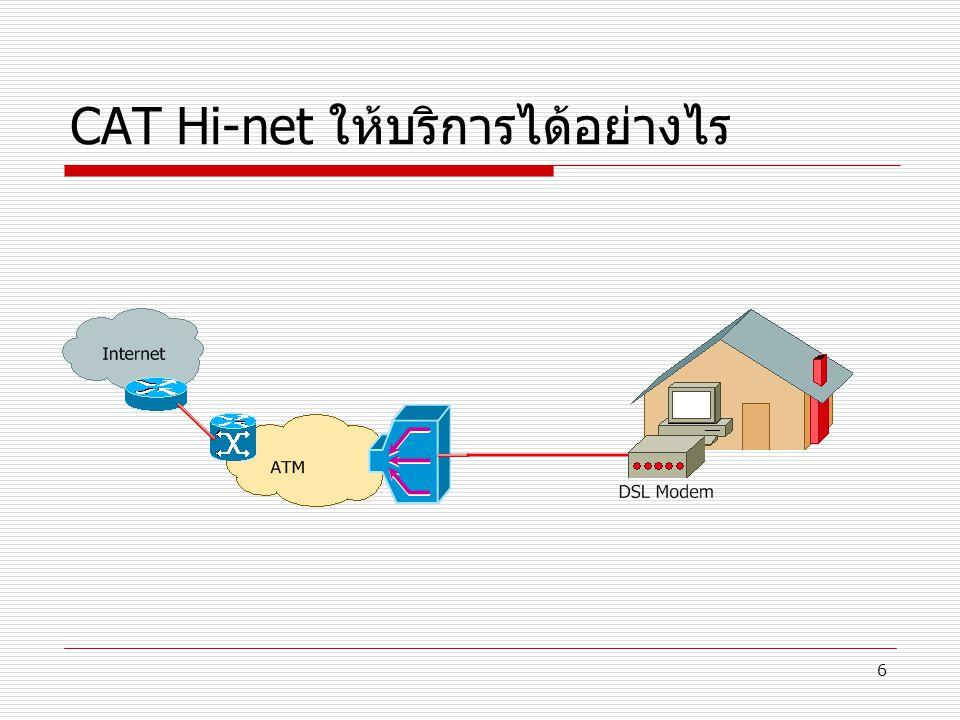 CAT Hi-net ให้บริการได้อย่างไร