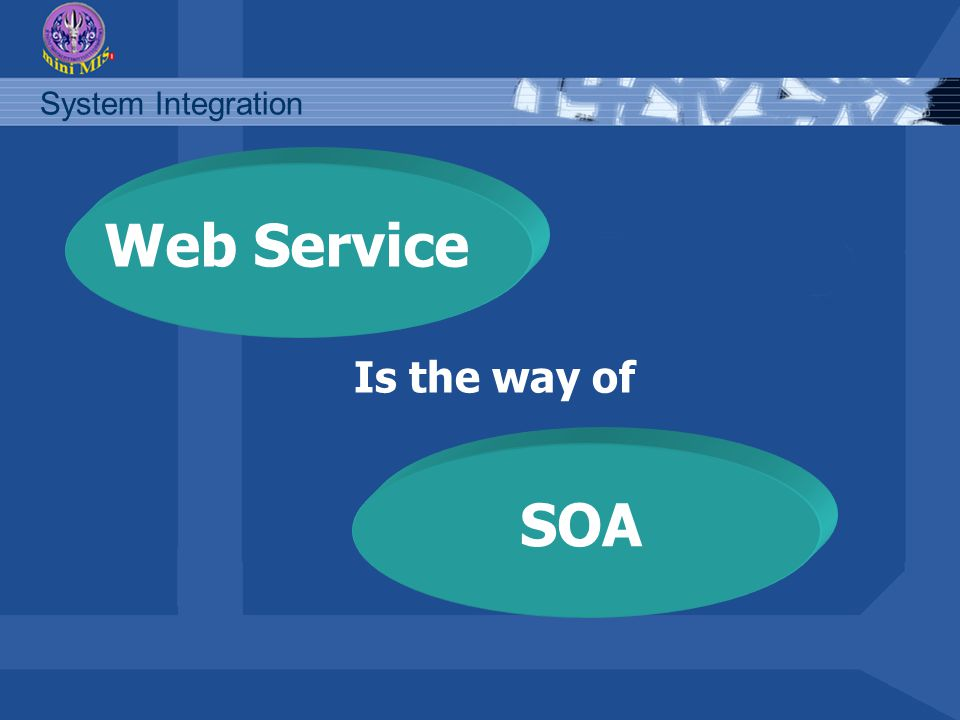 Web Service Is the way of SOA