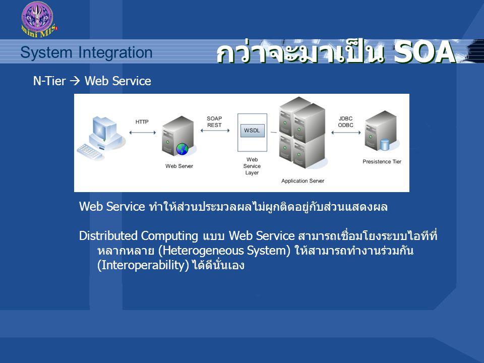 กว่าจะมาเป็น SOA N-Tier  Web Service