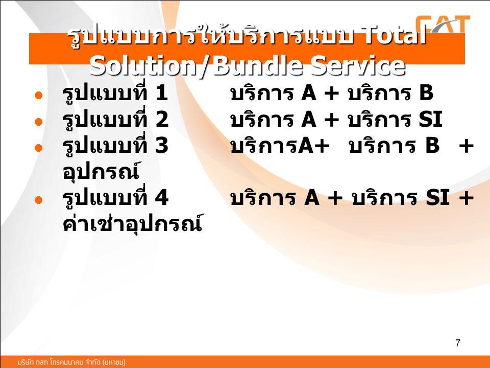 รูปแบบการให้บริการแบบ Total Solution/Bundle Service