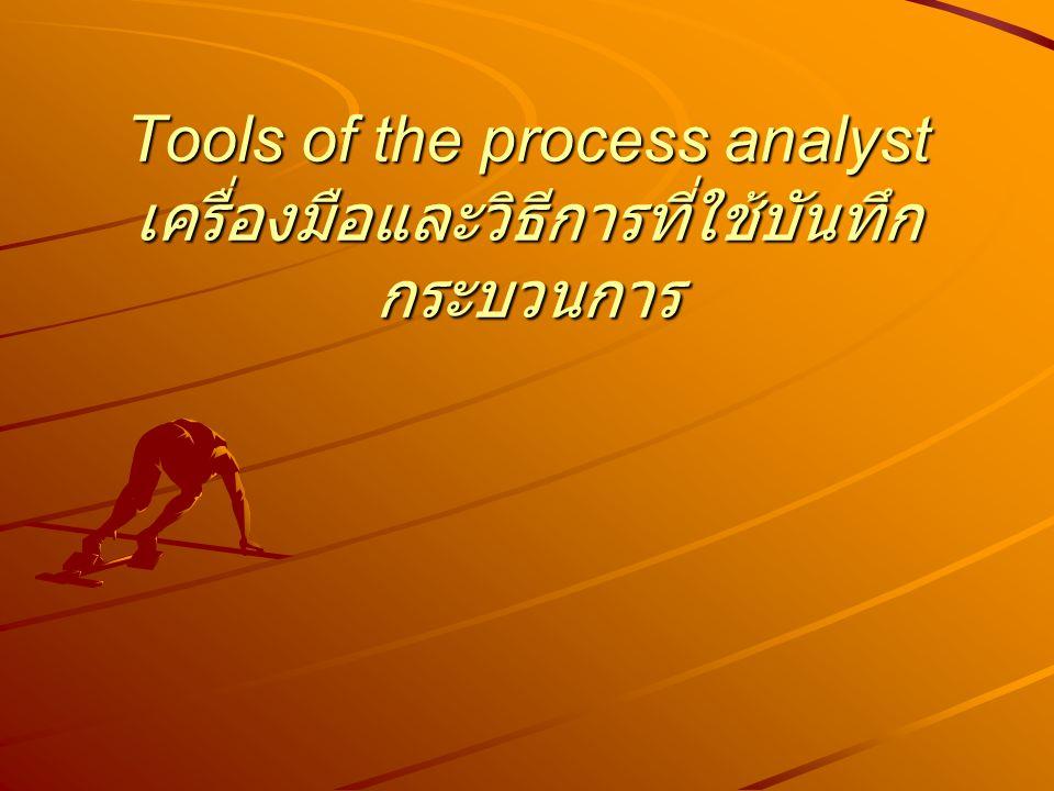 Tools of the process analyst เครื่องมือและวิธีการที่ใช้บันทึกกระบวนการ